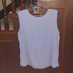 eileen fisher light blue blouse